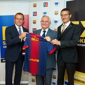 Sandro Rosell, John Dalli, Jordi Mones