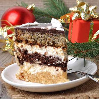 Торт рецепт трехслойный